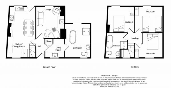 West View Cottage - Floor Plan